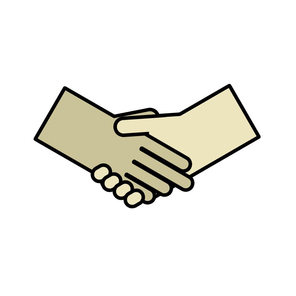 Анимация рукопожатие людей